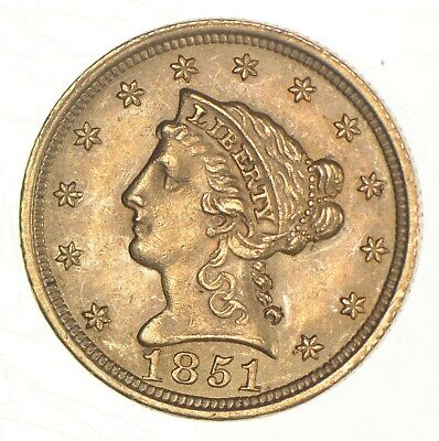 1851 $2.50 Quarter Eagle Liberty Head - U.S. Gold Coin *197