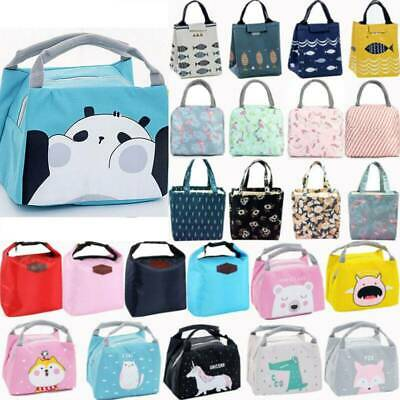 Childrens Adult Kids Picnic Lunch Bag Cool Bags School Cat Gift Insulated Bags