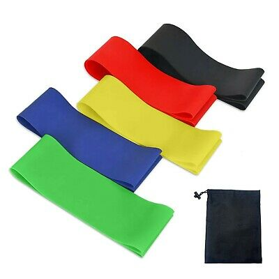 HOMPO Resistance Bands, [Set of 5] Skin-Friendly Resistance Fitness Exercise ...