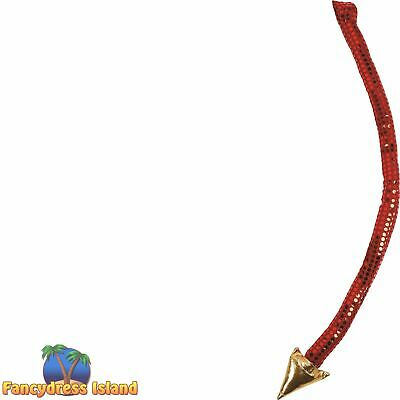 DEVIL TAIL WITH GOLD TIP HALLOWEEN FANCY DRESS ACCESSORY