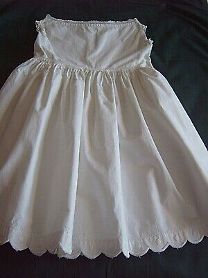 ] Children's Vintage Clothing - Handmade & Embroidered Petticoat   [Bb]