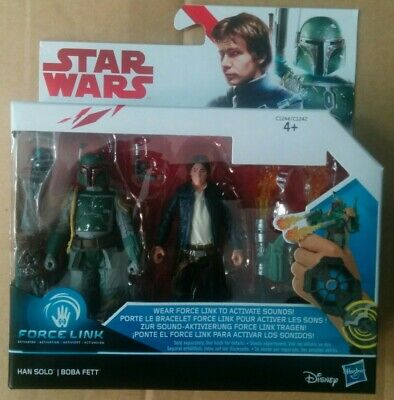 Brand New Star Wars Force Link Set Rose//BB8//BB9E Hans Solo//Boba Fett REY//Elite