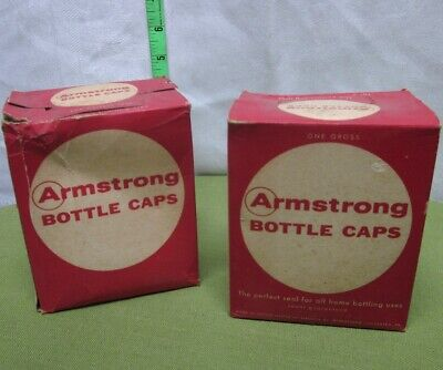 BOTTLE CAPS w/ Cork Interior unused Armstrong lot homebrew Lancaster beer PA