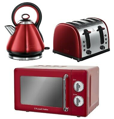 New Tefal Set of Loft Cherry Red Kettle 1.7L /& 4 Slice Toaster Unboxed