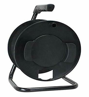 CR003000 Portable Cord Reel with Metal Stand Black Holds 100-Ft of Cord