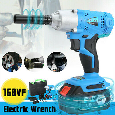 1/2'' 530Nm Electric Cordless Brushless Impact Wrench Set w/Battery,Chaiger,Box
