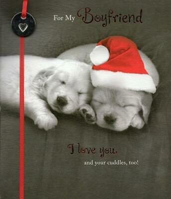 For My Boyfriend Cute Christmas Greeting Card Talk To The Paw Xmas Cards 4 49 Picclick Uk