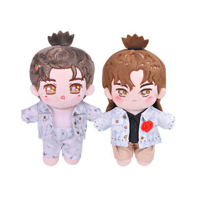 The Untamed MDZS 肖战 Xiao Zhan Plush Doll Star Doll White Suit Clothes 20 cm Toy