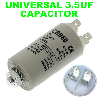 Tumble Dryer Microfarad Start Run Motor Capacitors 5UF 22UF Spade Capacitor