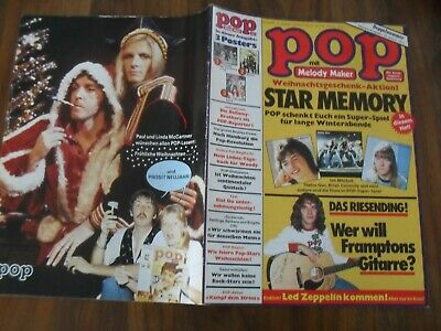 POP 25/26-/1976 mit Superposter Bay City Rollers-Tapete + BEATLES Poster Kenny