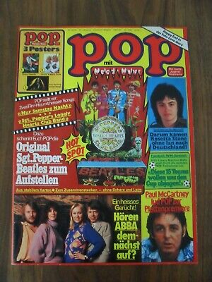 "POP 10/1978 mit Superposter Shaun Cassidy + BEATLES Aufsteller ""Sgt. Pepper´s"""