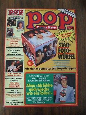 POP 17/18-/1977 mit Superposter von SWEET + Woody von BCR + Poster BEATLES