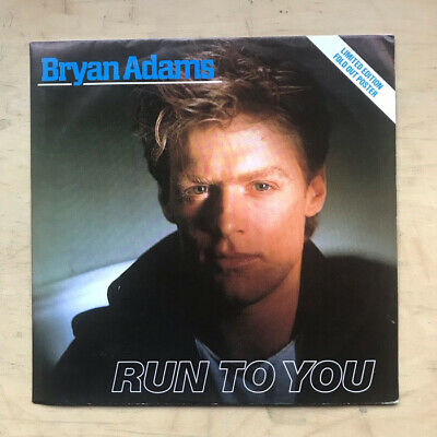 """BRYAN ADAMS RUN TO YOU(pos) 12"""" 1984 remix with I'm ready + cuts like a knife wi"""