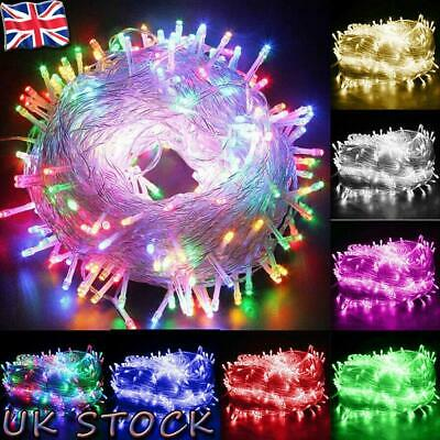 LED Fairy String Lights Mains Plug in//Battery Christmas Party Outdoor Garden UK