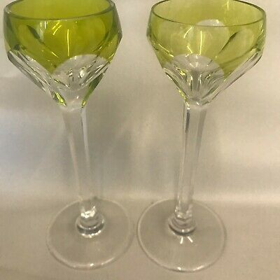St Louis CHANTILLY CLEAR 2 Cordials GREAT CONDITION