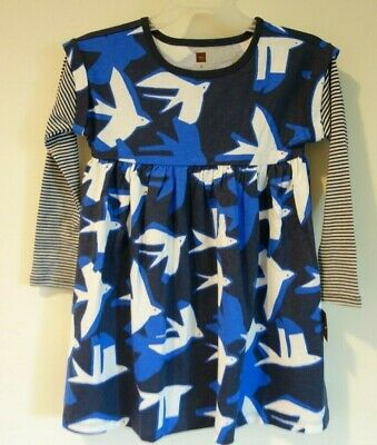 New WithTags Tea Collection Gibson Geo Printed Layered Sleeve Dress Size 2