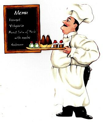 Fat Italian Chef Wall Safe Sticker Deserts Kitchen Border Cut Out 5 To 9 Inch 7 19 Picclick