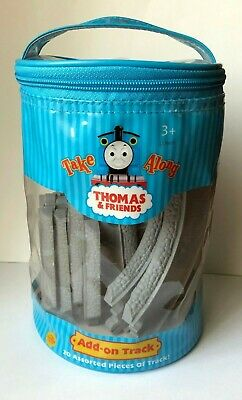 Thomas /& Friends Take Along Add-on Track 20 Assorted Pieces in Storage Bag