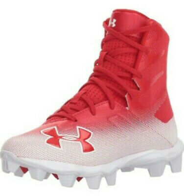 New Youth Under Armour Highlight RM Lacrosse//Football Cleats Black//White Sz 3Y