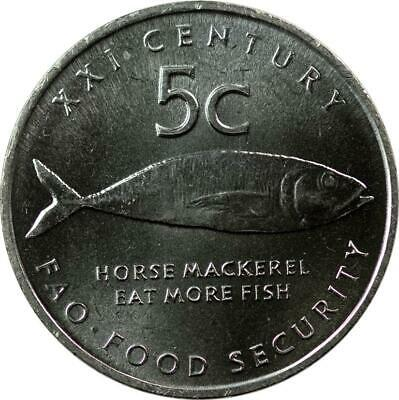 namibia 5 cent 2000 Fish FAO F.A.O 20mm steel coin km16 UNC