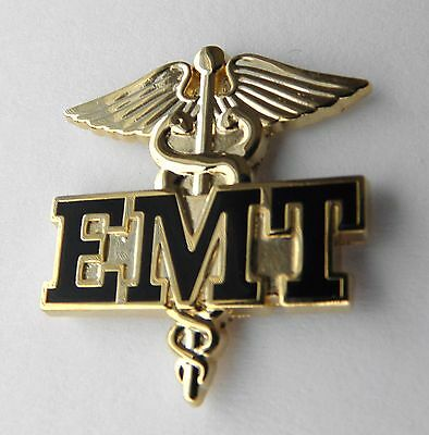 EMERGENCY MEDICAL AIR TECHNICIAN EMT WINGS AIRBORNE MEDIC LAPEL PIN 1.5 INCHES