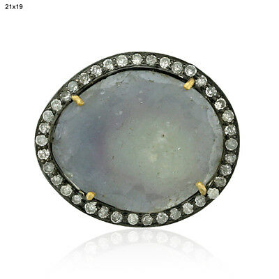 1.99ct Yellow Sapphire Bead Ball Spacer Finding .925 Sterling Silver Jewelry