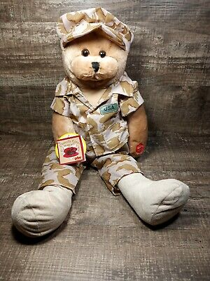 """NWT 19/"""" Chantilly Lane Musicals American GI Hero Soldier Bear God Bless the USA"""