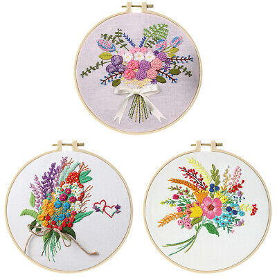 Embroidery Cross Stitch Kit Set For Beginners-Handmade Craft DIY Embroidery E0U1