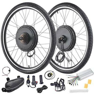 """26"""" Electric Bicycle Front/Rear Wheel 48V 1000W/1500W Ebike Motor Conversion Kit"""