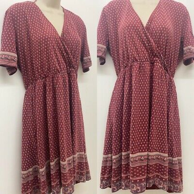 Red NEW RRP £55 Ex Fat Face Eadie Silhouette Ditsy Dress