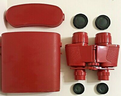 Vintage collection Red Binocular non prismatic Made in Italy