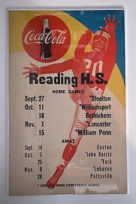 Coca-Cola Sports Poster - Reading H.S. Football Schedule