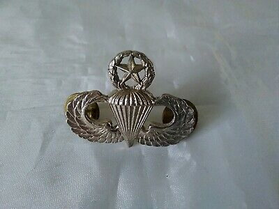 GENUINE French Airborne paratrooper metal qualification jump wings PreMilitaire