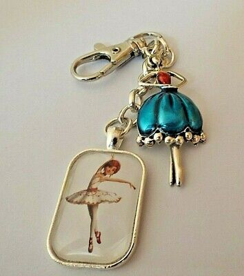 Dancing Ballerina Felecia 30 Mm Photo On A Key Chain  Key Rings Gift Box