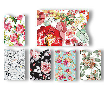 5 ID/Credit Card & 1 Passport Blocking Holder Protector Sleeves Flowers Chic Y3X