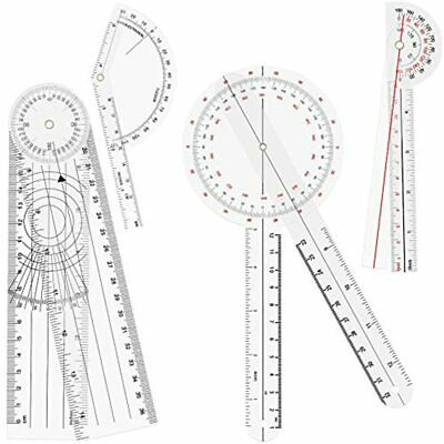 OIIKI 4PCS Goniometer Set, Including Finger Goniometer, 6&quot 180 Degree 8inch
