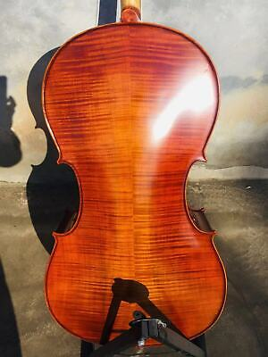Hand carved solid wood cello 4/4 ,flame maple back &ribs&neck, spruce top