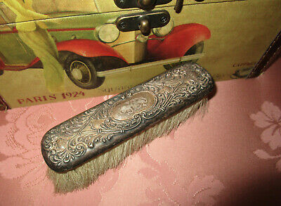 Pretty ANTIQUE STERLING SILVER ART NOUVEAU VICTORIAN CLOTHES BRUSH Decorative