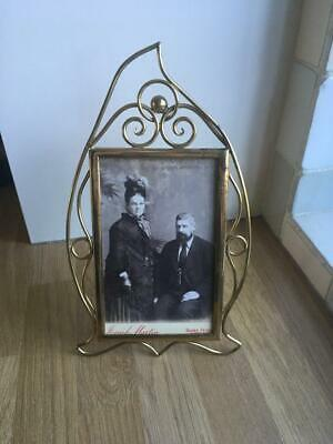 "ART NOUVEAU BRASS PHOTOGRAPH FRAME - 10.25"" x 6"""