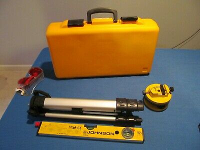 Johnson Level And Tools Laser Level 9100 With Tripod, Base, And Saftey Glasses