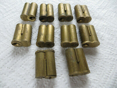 10 Vintage Best 7-pin G-keyway cores - brass - pins and springs removed