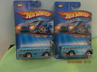 HOT WHEELS 2005 RED LINES SURFIN/' S/'COOL BUS #096