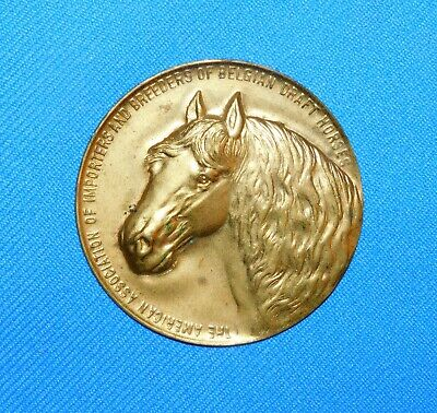 American Assoc. Of Importers And Breeders Of Belgian Draft Horses Brass Button