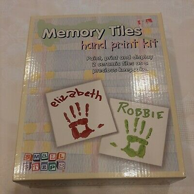 Memory Tiles, hand print kit by Tender Times. Small Steps. New.