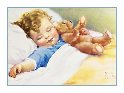 Bessie Pease Gutmann Sweet Dreams Baby Counted Cross Stitch Chart Graph Pattern