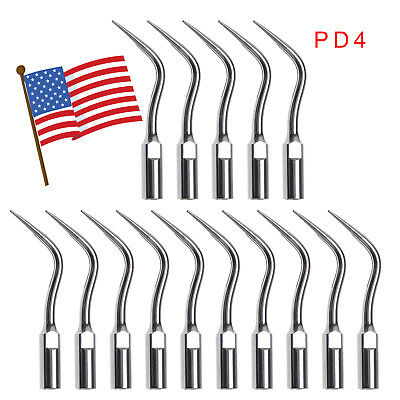 15*USA Dental Ultrasonic Perio Scaler Tips fit DTE SATELEC Scaling Handpiece PD4