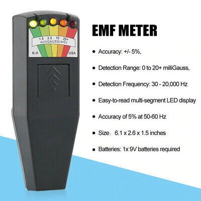 EMF METER GHOST HUNTING Equipment Adventures BLACK Paranormal High Quality Kit