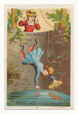 Lautz Bros. & Co. Pure and Healthy Acme Bar Soap- Victorian Trade Card
