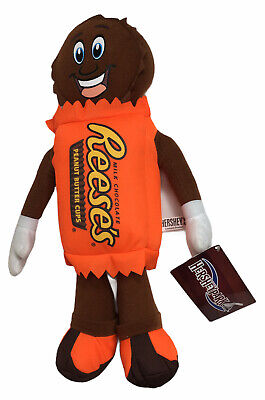 "HERSHEY'S Reese's Peanut Butter Cup Plush 14"" Stuffed Animal Hersheypark Tags"