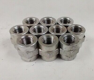 "1/8"" Fnpt To 1/8"" Fnpt Steel Union Couplers (Lot Of 10) 5000-02-02"